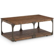 17 Stories Aradhya Wood Coffee Table w/ Casters
