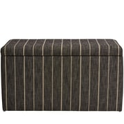 Breakwater Bay Evalyn Cotton Upholstered Storage Bedroom Bench; Peppercorn
