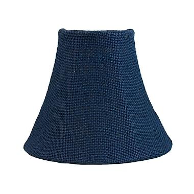 Bloomsbury Market 6'' Burlap Bell Candelabra Shade; Blue