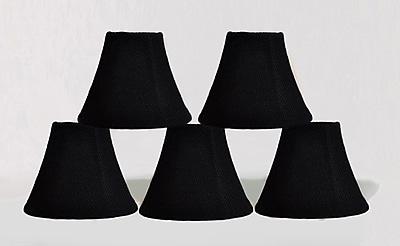 Bloomsbury Market 6'' Burlap Bell Candelabra Shade (Set of 5); Black