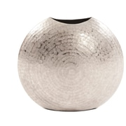 Bayou Breeze Boadicea Frosted Metal Table Vase; 10.25'' H x 10.75'' W x 5'' D