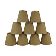 Astoria Grand 5'' Silk Empire Candelabra Shade (Set of 9); Gold