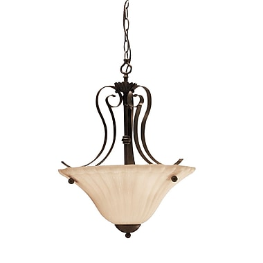 Darby Home Co Bafford 2-Light Inverted Pendant; Tannery Bronze