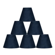 Ebern Designs 6 Piece 6'' Suede Empire Lamp Shade (Set of 6); Navy Blue