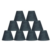 Ebern Designs 9 Piece 6'' Suede Empire Lamp Shade (Set of 9); Gray