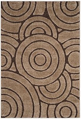 Ebern Designs Mckay Brown Area Rug; Rectangle 5'1'' x 7'6''