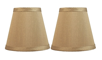 Fleur De Lis Living 5'' Silk Hardback Empire Clip-on Candelabra Shade (Set of 2); Taupe