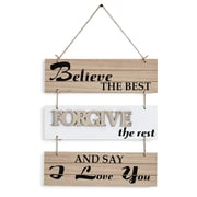 Gracie Oaks Believe the Best, Forgive the Rest and Say I Love You Sectioned Wall Decor