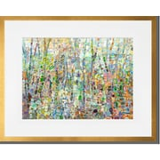 Latitude Run 'Abstract Forest' Framed Acrylic Painting Print; Gold