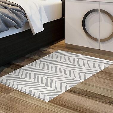 Ivy Bronx Hisako Floor Gray Area Rug