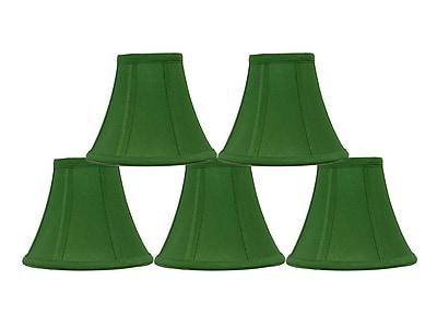 Mercer41 6'' Silk Bell Candelabra Shade (Set of 5); Kelly Green