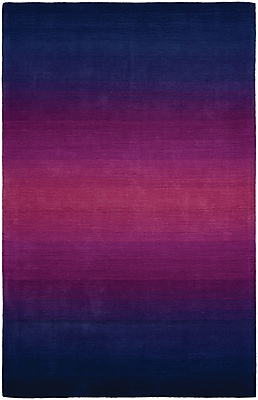 Bungalow Rose Beirut Wool Blue/Purple Area Rug; 5'6'' x 8'