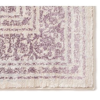 Bungalow Rose Aya Distressed Medallion Lavender/Beige Area Rug; 7'10'' x 10'6''