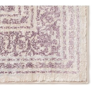 Bungalow Rose Aya Distressed Medallion Lavender/Beige Area Rug; 5'3'' x 7'3''