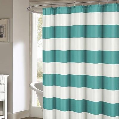 Breakwater Bay Ivanna Shower Curtain; Teal