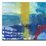 Brayden Studio 'Primary Underwater Oasis' Acrylic Painting Print on Canvas in Blue; 30'' H x 40'' W
