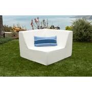 Brayden Studio Acheson Corner Chair; White