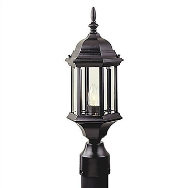 Charlton Home Oakhill 6.5'' Outdoor Post Lantern; Rust