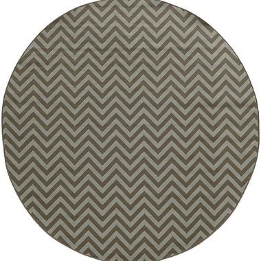 Ebern Designs Heath Grey/Blue Chevron Indoor/Outdoor Area Rug; 7'10'' x 10'10''