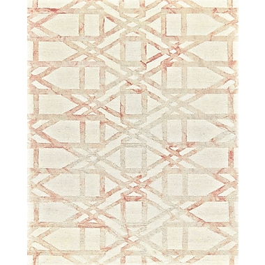 Ebern Designs Frederick Hand-Hooked Blush Area Rug; 2' x 3'