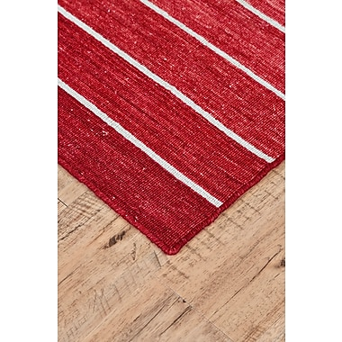 Ebern Designs Mcdonald Hand-Loomed Red Area Rug; Square 9'