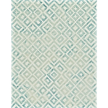 Ebern Designs Frederick Hand-Hooked Mariner Area Rug; 8' x 11'