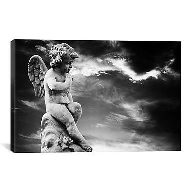 East Urban Home Angel Sculpture Photographic Print on Canvas; 18'' H x 26'' W x 1.5'' D