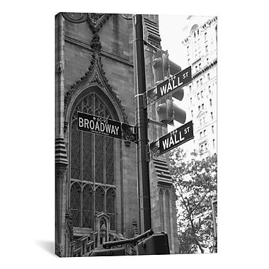 East Urban Home 'Wall Street Signs (New York City)' Photographic Print on Canvas