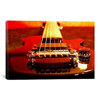 East Urban Home Electric Guitar Photographic Print on Canvas; 18'' H x 26'' W x 1.5'' D