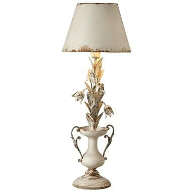 One Allium Way Olive Flower 34.5'' Torchiere Lamp