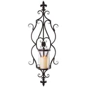 Ophelia & Co. Kingsbury Fleur de Lis w/ Scroll Candle Sconce