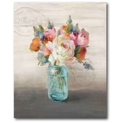 Ophelia & Co. 'French Cottage Bouquet II' Framed Graphic Art Print on Canvas
