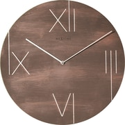17 Stories 16.93'' Round Wall Clock; Brown