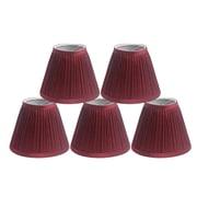 Winston Porter Pleat 6'' Silk Empire Lamp Shade (Set of 5); Burgundy