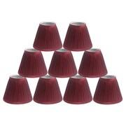 Winston Porter Pleat 6'' Silk Empire Lamp Shade (Set of 9); Burgundy