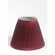 Winston Porter Pleat 6'' Silk Empire Lamp Shade; Burgundy