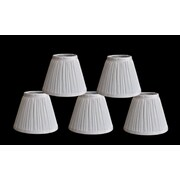 Winston Porter Pleat 6'' Silk Empire Lamp Shade (Set of 5); White