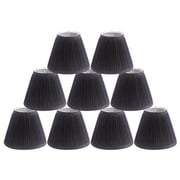 Winston Porter Pleat 6'' Silk Empire Lamp Shade (Set of 9); Black