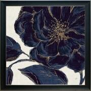 Ivy Bronx 'Indigo Garden Bloom II' Framed Graphic Art Print; 34'' H x 34'' W