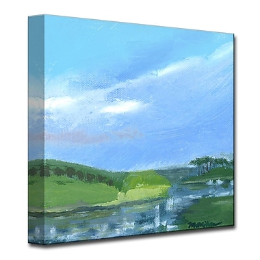 Highland Dunes 'Checkered Reflections' Painting Print on Wrapped Canvas; 16'' H x 16'' W x 1.5'' D