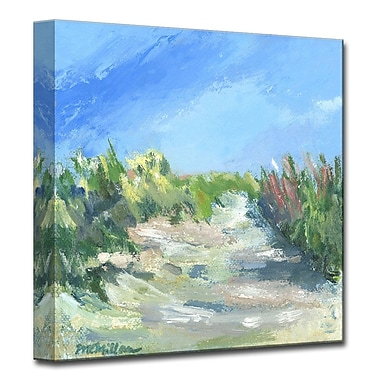 Highland Dunes 'Seagrass Walk' Painting Print on Wrapped Canvas; 16'' H x 16'' W x 1.5'' D