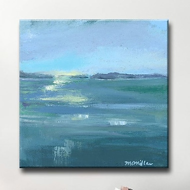 Highland Dunes 'Dusk on the Water' Painting Print on Wrapped Canvas; 12'' H x 12'' W x 1.5'' D
