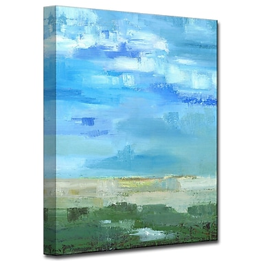 Highland Dunes 'Bright Blue I' Painting Print on Wrapped Canvas; 40'' H x 30'' W x 1.5'' D