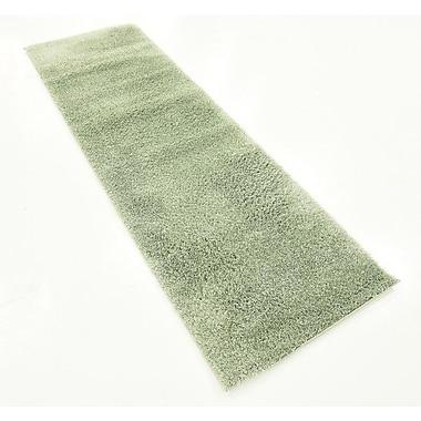 Ebern Designs Nila Sage Green Area Rug; Runner 2' x 6'7''