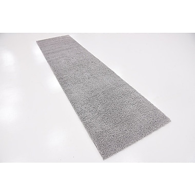 Ebern Designs Starla Light Gray Area Rug; Runner 2'7'' x 10'