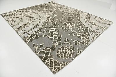Ebern Designs Annice Cream Indoor/Outdoor Area Rug; 8' x 10'