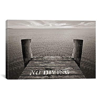 East Urban Home No Diving from South Dakota Smart Photographic Print on Canvas
