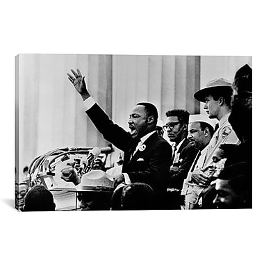 East Urban Home 'Martin Luther King ''I Have A Dream'' Speech' Photographic Print on Canvas