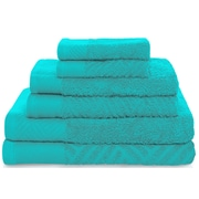 Latitude Run 6 Piece Towel Set; Turquoise