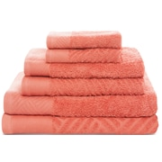 Latitude Run 6 Piece Towel Set; Coral